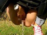 Amateurvideo Pissen im Wald von wondergirl