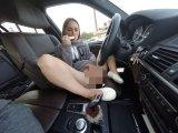 Amateurvideo Public mit Dildo und Schläppchen im Auto von Doreensworld